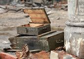 stock photo of artillery  - the empty crate from under artillery shells - JPG