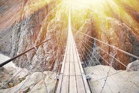 image of suspension  - Trift Bridge - JPG
