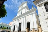 stock photo of san juan puerto rico  - Cathedral of San Juan Bautista is a Roman Catholic cathedral in Old San Juan - JPG