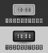 picture of analog clock  - Flap type clock - JPG