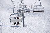 pic of sochi  - Chairlift in a ski resort Krasnaya Polyana - JPG