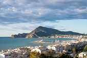 stock photo of costa blanca  - View over  Altea bay, Costa Blanca, Spain