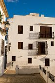 image of costa blanca  - Whitewashed facades of Altea old town houses Costa Blanca Spain - JPG