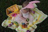 stock photo of baby easter  - Baby Sorelle - JPG