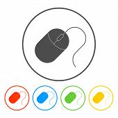 picture of mouse  - Computer mouse icon vector illustration - JPG