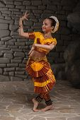 stock photo of national costume  - European child in national costume of India - JPG