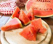 stock photo of watermelon slices  - Sliced  - JPG