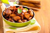 picture of soy sauce  - Chicken breast bits in soy sauce casserole - JPG