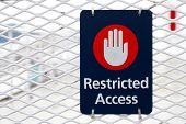 image of restriction  - Real sign  - JPG