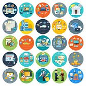 picture of analysis  - Set of icons of earnings - JPG