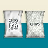 picture of packing  - White Blank Foil Food Snack pack For Chips - JPG