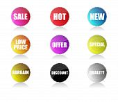 Glossy sale tags
