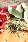 pic of bay leaf  - Dried herb and spice  - JPG
