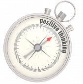 stock photo of positive thought  - Positive thinking compass image with hi - JPG