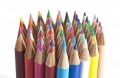 Colouring Pencils Stood  Up In A Group