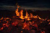 image of bonfire  - landscape with bonfire - JPG