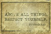 image of pythagoras  - Above all things respect yourself  - JPG