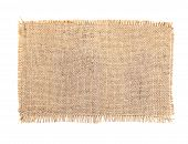 pic of sackcloth  - sackcloth tags set burlap canvas over white - JPG
