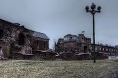 image of brest  - Ruins in Brest fortress in Belarus (world war second) ** Note: Visible grain at 100%, best at smaller sizes - JPG