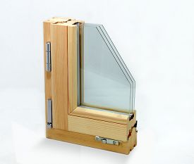 foto of hermetic  - section window with three glasses and two air chambers - JPG