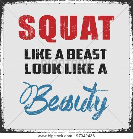 Squat Like a Beast poster
