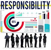 picture of trustworthiness  - Responsibility Work Duty Trustworthy Roles Concept - JPG