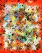 Artist Canvas in Oranges