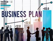 image of objectives  - Business Plan Planning Strategy Success Objective Concept - JPG
