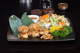 stock photo of shell-fishes  - japanese cuisine - JPG