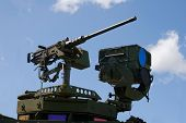 foto of m60  - Military Army Stryker light armored brigade vehicle machine gun and thermal imager - JPG