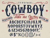 Cowboy Handcrafted Retro Textured Typeface poster