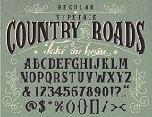 Country Roads Handcrafted Retro Typeface poster