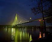 Night Bridge Reflections