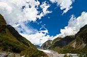 Fox Glacier And Cloudscape