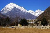 foto of sherpa  - This image shows a cabin near Namche Bazaar Nepal.  - JPG