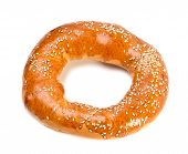 Doughnut-shaped Bun Bread Roll With Sesame