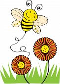 picture of bee cartoon  - Stock Vector Illustration: