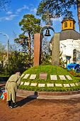 Chernobyl Bell With  Bowing People