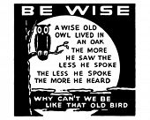 Be Wise - Retro Ad Art Banner