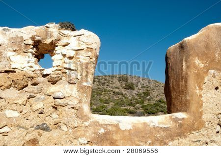poster of Fort Bowie National Historic Site adobe ruin walls