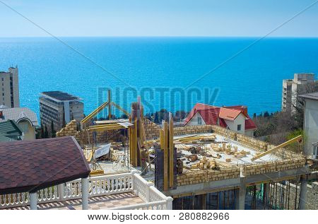 Construction Site Of Building In