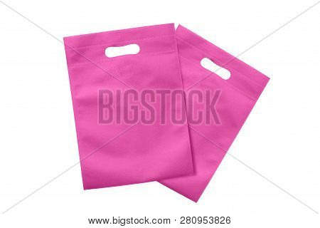 poster of Pink Eco Bags, Eco Cloth Bags To Reduce Global Warming, Shopping Bags Eco Burlap, Woven Fabric Recyc
