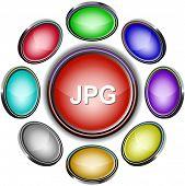 Jpg. Internet icons. Raster illustration.