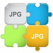 Jpg. Raster puzzle. Vector version is in portfolio.