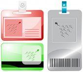 Spermium. ID-Karten. Raster Abbildung.