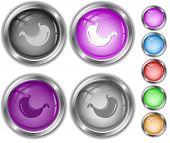 Stomach. Raster internet buttons. Vector version is in portfolio.