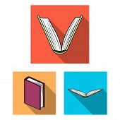 Vector Illustration Of Library And Textbook Symbol. Collection Of Library And School Vector Icon For poster