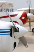 stock photo of hydroplanes  - Propellers of charter flights - JPG