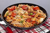 Pasta Bake With Cherry Tomatoes And Tuna - An Individual Serving Of Pasta Bake With Cherry Tomatoes  poster