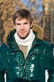 Hipster Winter Fashion. Prepared For Weather Changes. Winter Stylish Menswear. Winter Outfit. Man Un poster